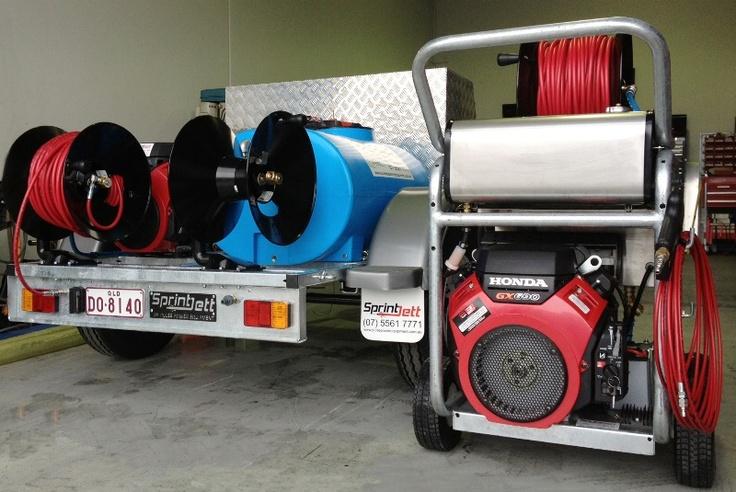 Sprintjett Water Jetters built by Pulse Power Equipment Qld