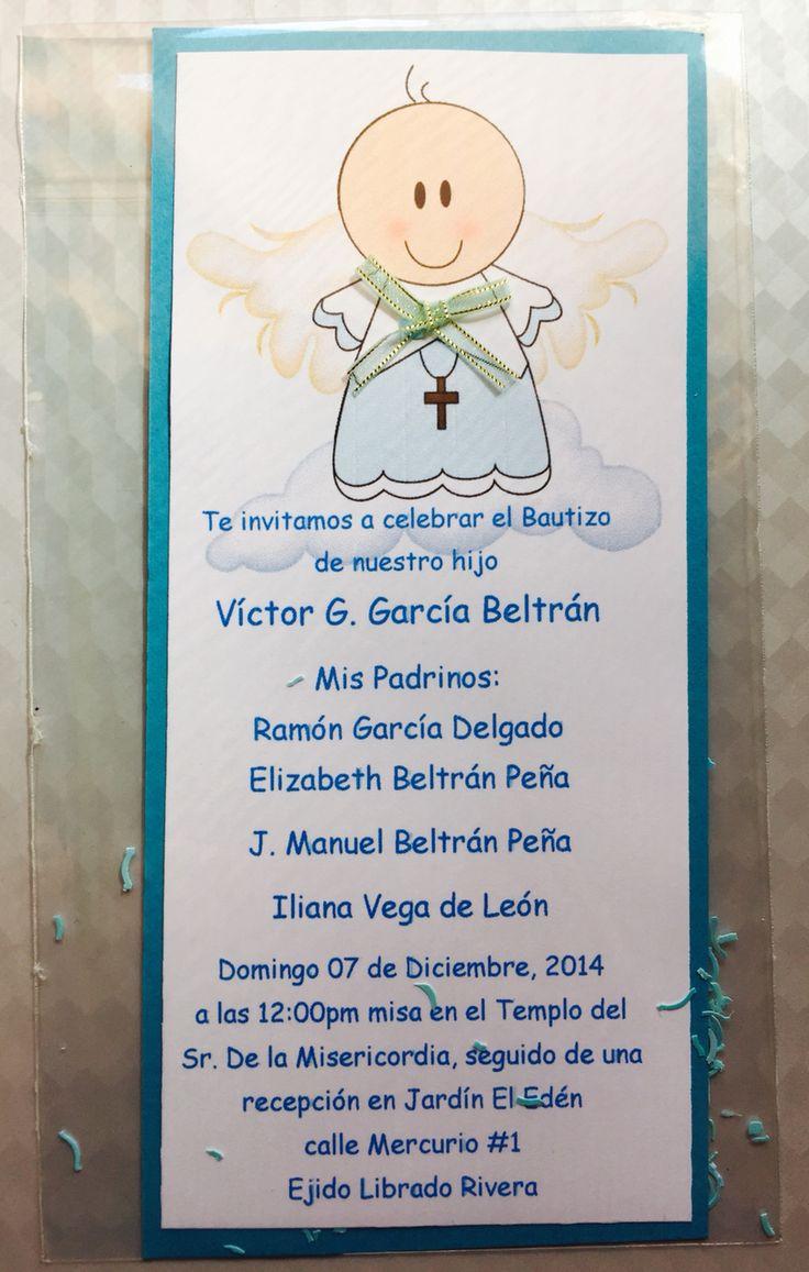 invitacion de bautizo ni u00f1o