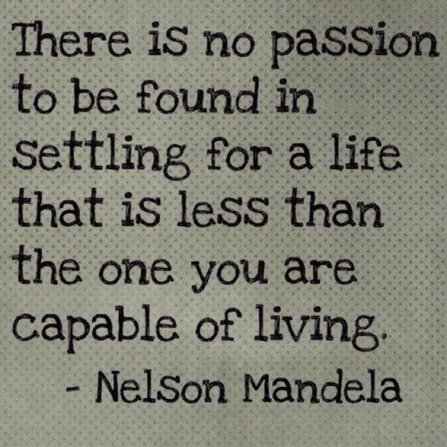Live a life of passion