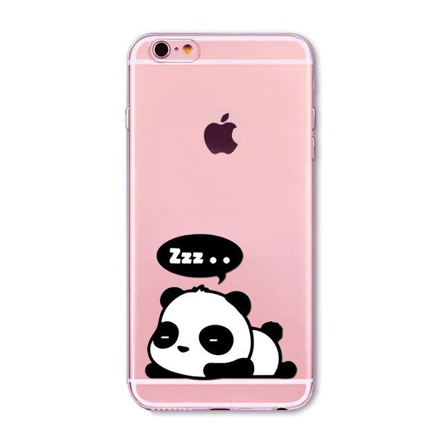 "Fundas Mobile Phone Case Cover for iphone 6 6S 4.7"" Soft Slim TPU Transparent Soft Cute Animal Cat Hamster Panda Rabbit Bags"