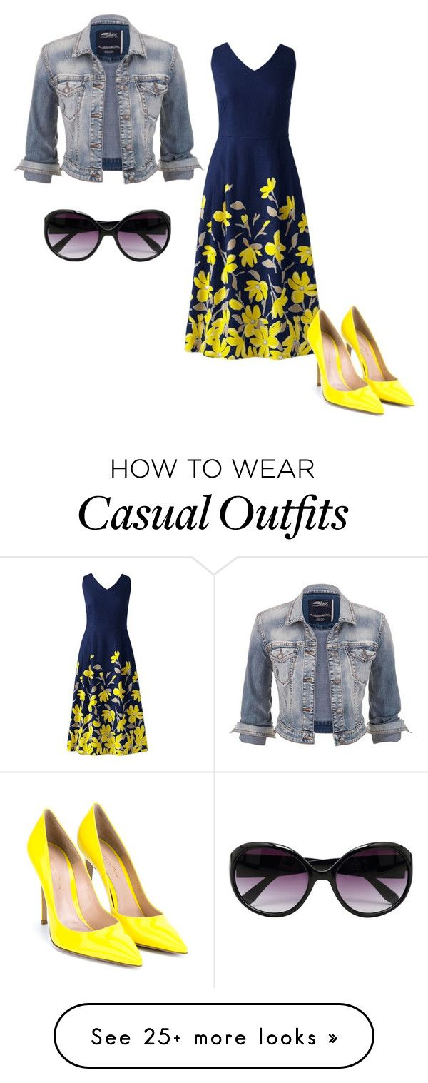 """Casual dinner"" by evelynjames on Polyvore featuring Lands' End, maurices, Gianvito Rossi and M&Co"