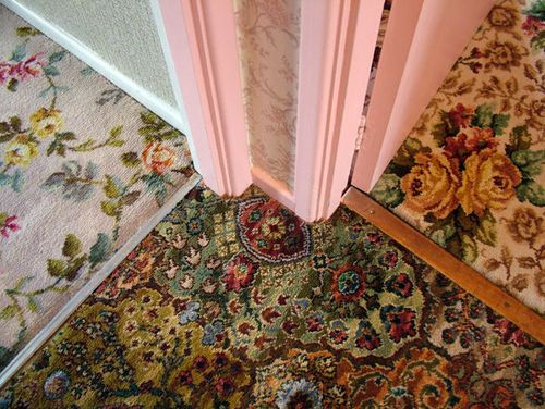Going big with pattern underfoot - vintage rugs carpeting
