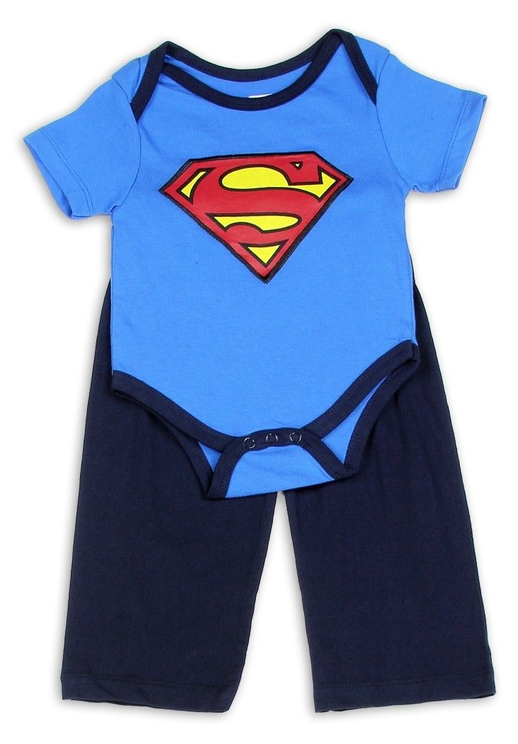 New DC Comics Baby Boys Clothing Superman Shorts /& Top Outfit 6-18 Months