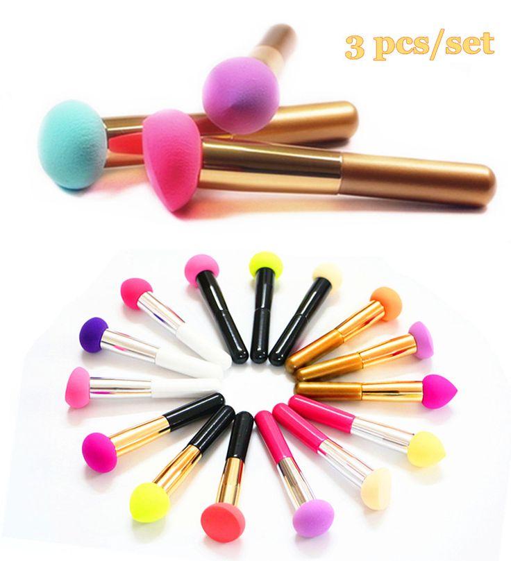 3Pcs Makeup Sponge w/handle
