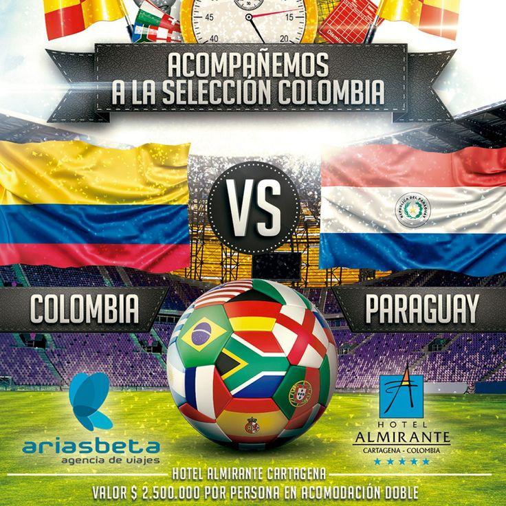 Acompañemos a la Selección Colombia!!! COLOMBIA VS PARAGUAY 05 octubre 2017