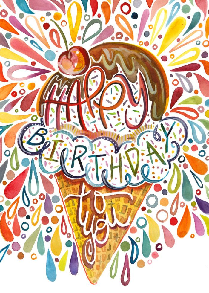 Amarilys Henderson - Happy Birthday Ice Cream Cone 5x7