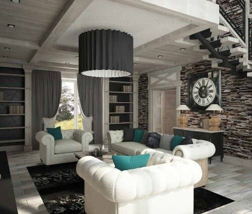 Загородный дом. #гостиная #интерьер #дизайн