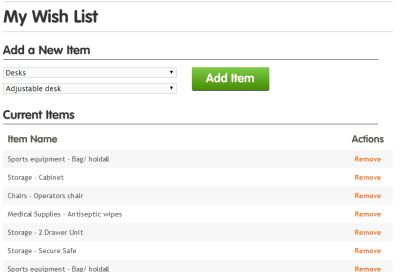 Handy tool this one. You can set up a wish list for your organisation and keep an eye out for new stock @warpit_