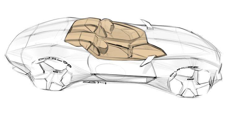 Car design sketches #5 on Behance