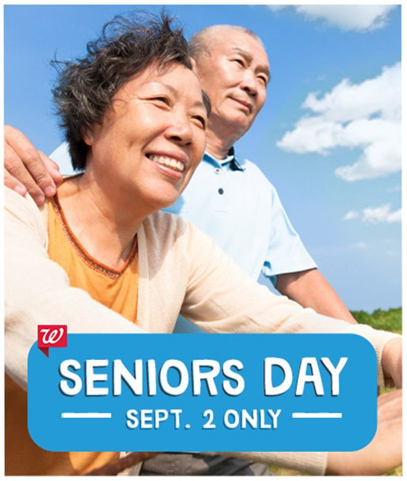 Seniors Day At Walgreens!