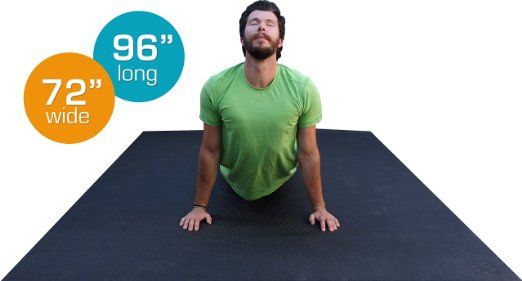 """The LARGEST Yoga Mat Available. 8' x 6' (96"""" x 72"""") Premium High-Density Non-Toxic Yoga Mat. Large Yoga Mat-Extra Long, Extra Wide..."""