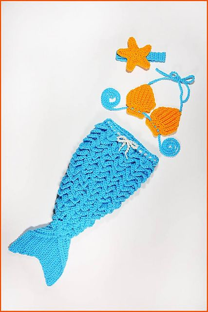 Knitting Pattern For Baby Mermaid Outfit : Best 25+ Baby mermaid crochet ideas on Pinterest Crochet cocoon pattern, Cr...