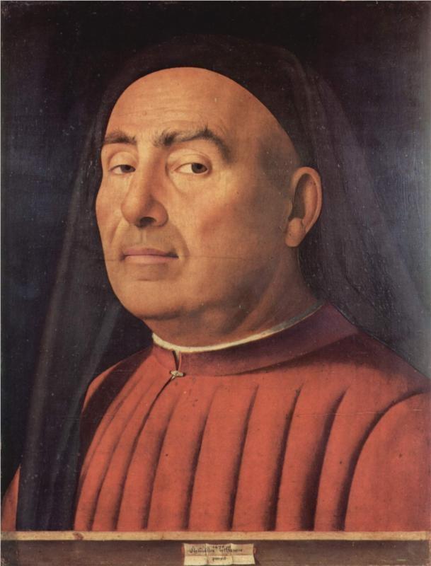 Antonello da Messina, Portrait of a Man, 1476