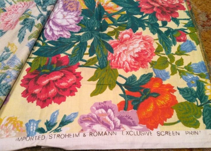 STROHEIM & ROMANN VINTAGE FABRIC: 5 YDS GRAND MUSEE FINE COTTON FRENCH FLORAL
