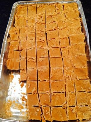 VANILLA FUDGE! This is super easy to make and is very yummy! I like to drizzle white and milk chocolate over the top to add an extra something!