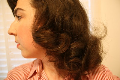 Bee's Knees Vintage: Lazy pin curls: Lazy Pin, Knee Vintage, Pin Curls, Bees Knee