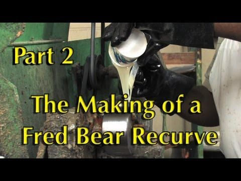 How the Fred Bear Recurve Bow is Made Part 2 - YouTube Get Recurve Bows at https://www.etsy.com/shop/ArcherySky