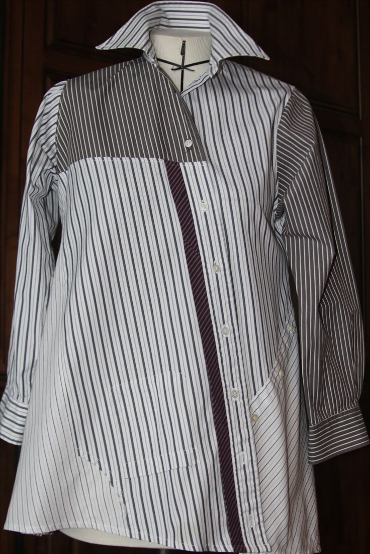 Pat Congleton - Recycled Men's Dress Shirt - Voque pattern #1274 by Lynn Mizono