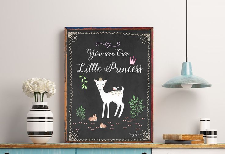 You are Our Little Princess - Instant Download - Contemporary Art - Home Decor - Wall Art - Modern - Minimal - Gold by StudioTwoNine on Etsy