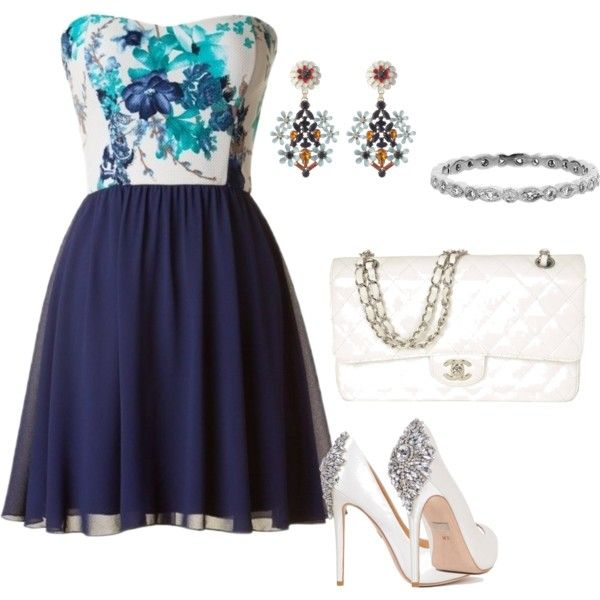 Cute by marudel on Polyvore featuring moda, Badgley Mischka, Chanel and Cathy Waterman