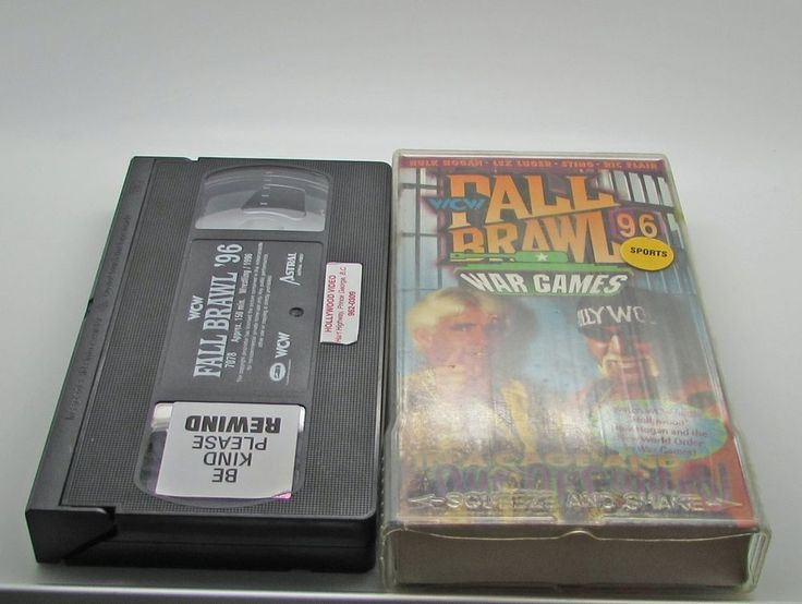 WCW Fall Brawl '96 War Games (VHS, 1996) NWO WWF WWE HULK HOGAN STING RIC FLAIR