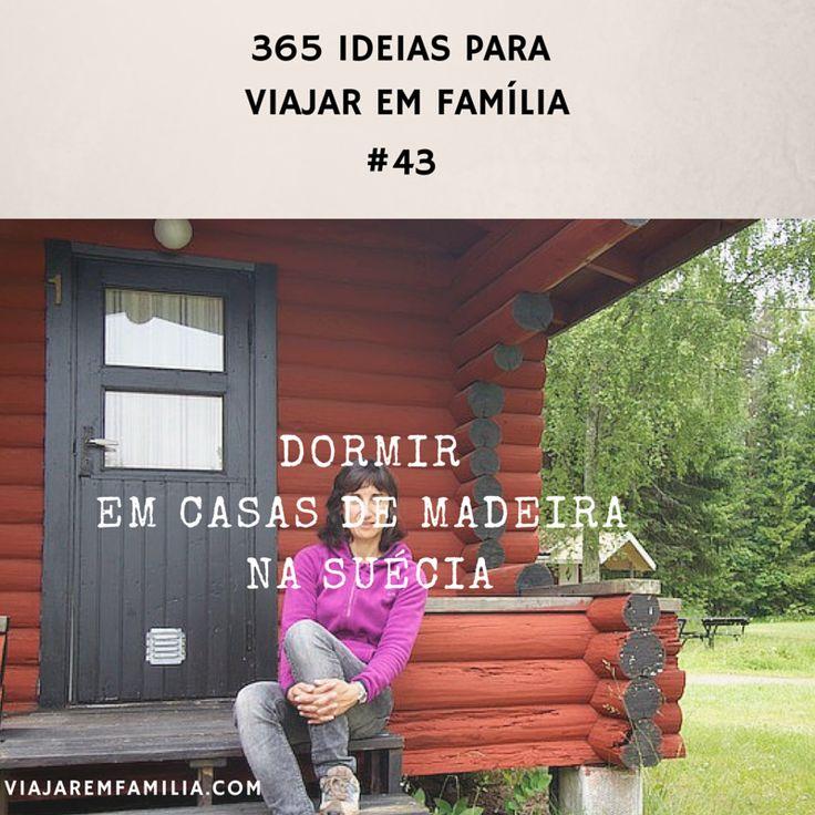 Dormir em casas de madeira na Suécia