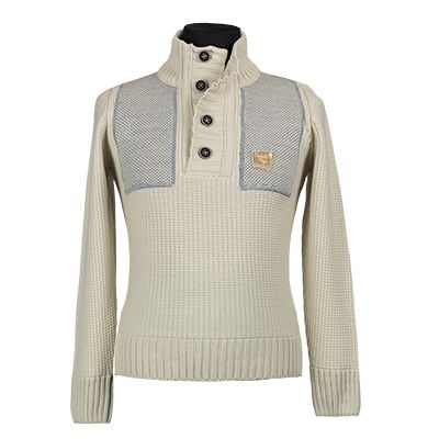 Maglia misto lana, collo serafino - Panna - Invernale. € 48,30. #hallofbrands #hob #maglia #sweater #jersey #knitwear #invernale #wintry #winter