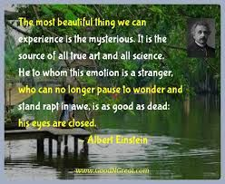 Image result for mysterious quote albert einstein