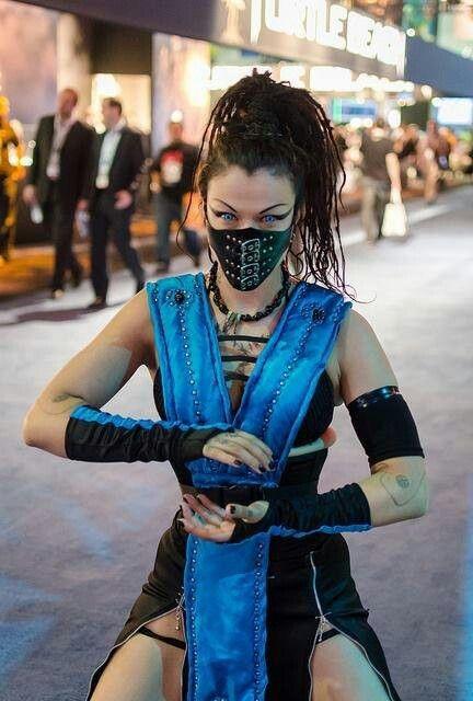 lady sub zero cosplay mortal kombat - Mortal Kombat Smoke Halloween Costume