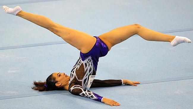 Farah Ann Abdul Hadi of Malaysia competes during the women's floor exercise routine final