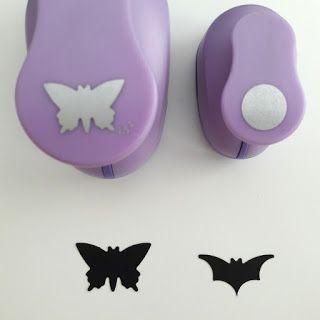 Como fazer um morcego com um furador de borboleta