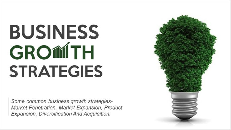 Business Growth Strategies- PowerPoint Presentation Cover Slide