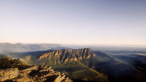 Mt William, Grampians, Victoria, Australia.  Very cool mountain range looking out over Australia below.