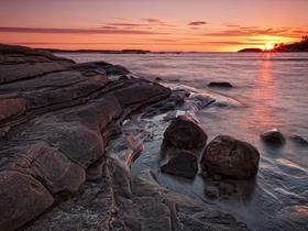 Proshots - Sunset Over Georgian Bay, Killbear Provincial Park, Ontario - Professional Photos