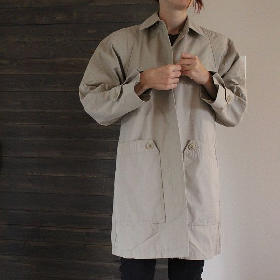 Manteau, imperméable, trench, beige femme taille M, taille 10 US