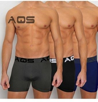 AQS Aqs Men's Boxer Briefs, Black, Grey, Blue