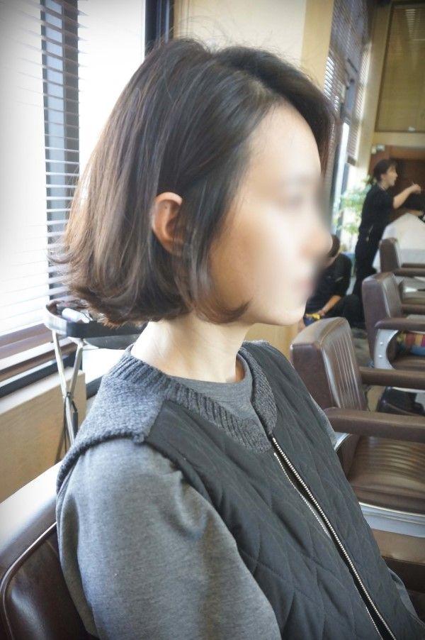 [단발머리스타일] 앞머리 없는 단발머리 파마 단발 씨컬펌 : 네이버 블로그