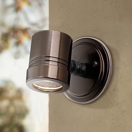 Lamps+ $64 replace horns and floods? Myra Collection Bronze Outdoor Halogen Spotlight