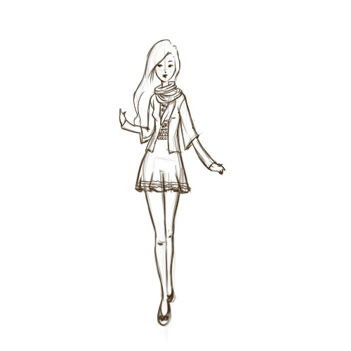 how to draw fashion design sketches step by step