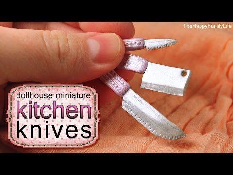 Видео МК - Кухонные НОЖИ из полимерной глины (кукольная миниатюра) ._Video MK - kitchen knives made of polymer clay (miniature doll)