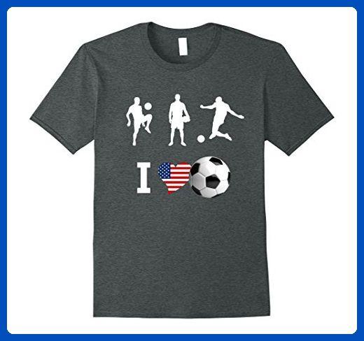Mens Soccer love American Flag USA soccer club Team T Shirt  3XL Dark Heather - Sports shirts (*Amazon Partner-Link)