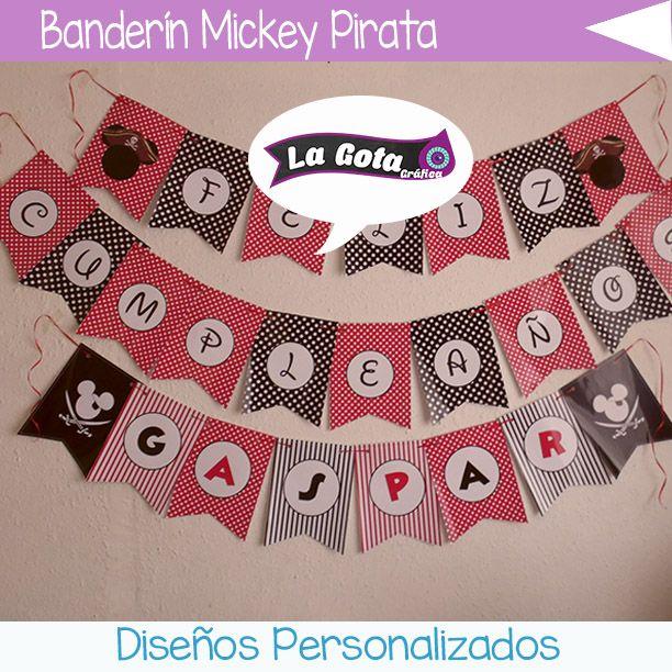 Banderín Mickey Pirata