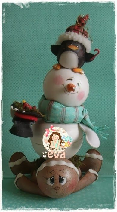 gingerbread/snowman/penguin stack