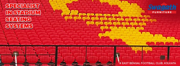 Spacious and well structured seating system arrangement at East Bengal Football Club, Kolkata is done by Swagath. Get more details on bulk orders at www.swagath.co !!