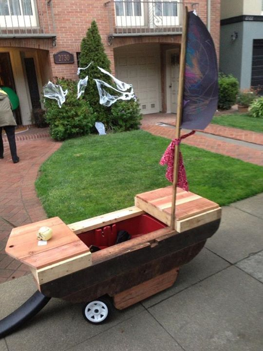 diy halloween pirate ship converted a radio flyer wagon into our pirate ship for the - Kids Halloween Radio