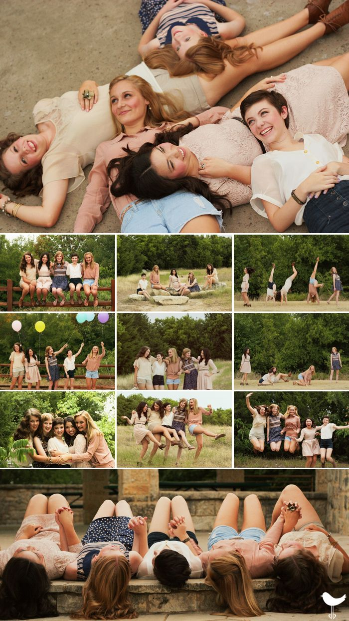 Senior portrait. Best friends. Besties. BFFs. Fab five. Girlfriends. Arbor Hills. Dallas lifestyle photographer. TheLoveDoves