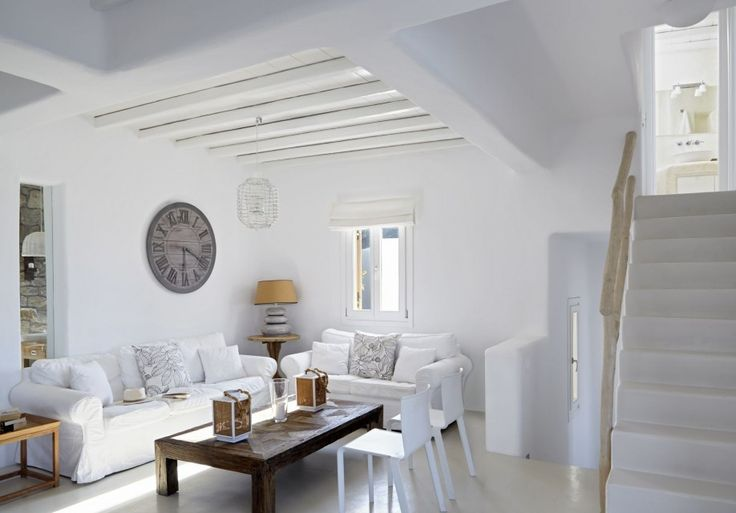 Villa Norah is located in the most privileged location of Elia in Mykonos. Norah is a contemporary, summer Villa with fantastic view to Elia beach, a long, golden sand beach; argueably the quietest and best beach in Myknonos. White colors, stone and water are the dominant characteristics.