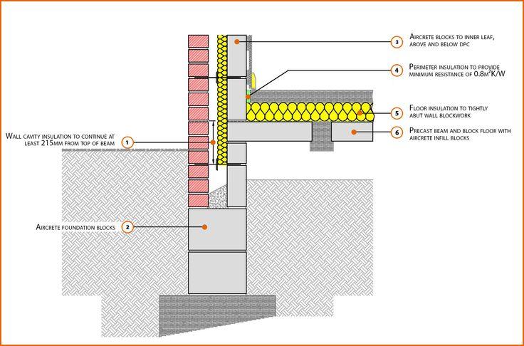 E5MCPF19 Suspended Beam And Block Floor Insulation Above