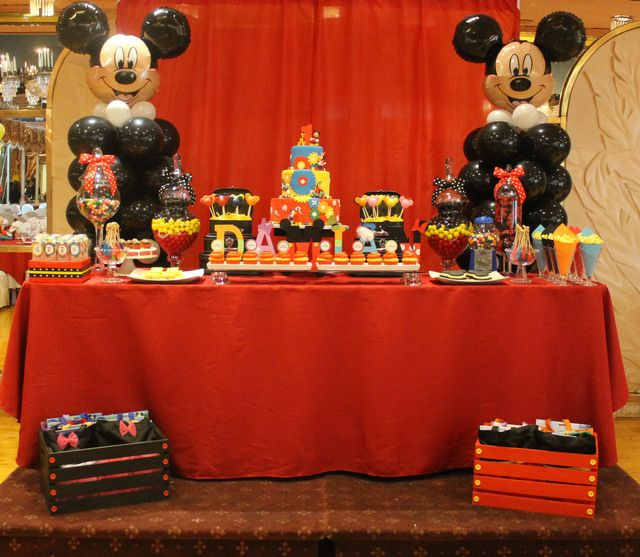 Mickey Mouse Cake Table Decoration