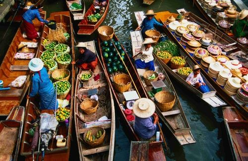 Floating Market, Bangkok, Thailand. If I go back to Thailand again, a revisit for photos is a must